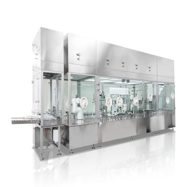 Máquinas robotizadas de llenado aséptico para frascos anidados Steriline distribuidos por Netsteril
