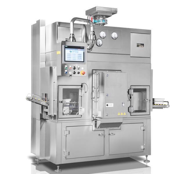 Sistema robotizado de descontaminación de tinas con frascos anidados Steriline distribuido por Netsteril