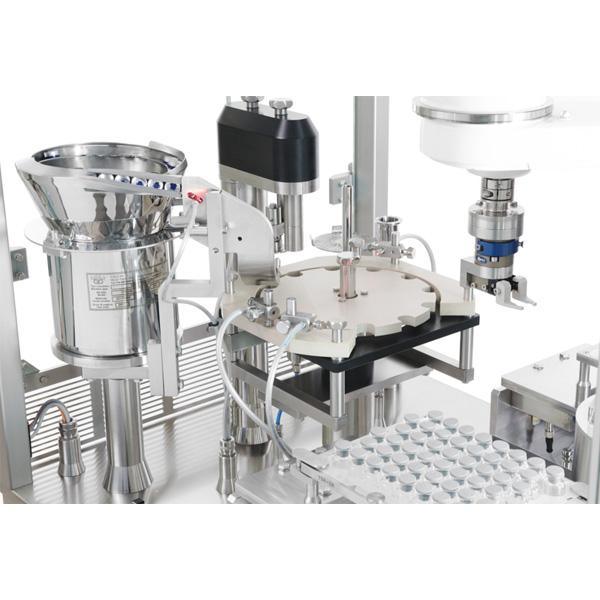 Máquinas robotizadas de capsulado de viales distribuidas por Netsteril: Steriline-0914-RVCM