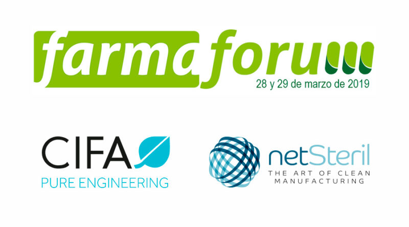 Logos de Farmaforum, Netsteril y Cifa