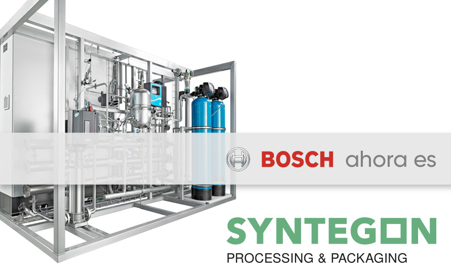 Imagen que representa el cambio de Bosch Packaging Technology a Syntegon