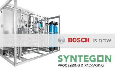 Image to illustrate the change from Bosch Packaging Technology to Syntegon