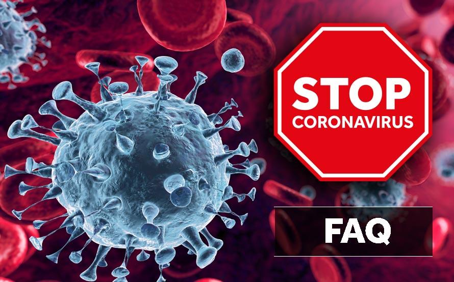 Imagen coronavirus para introducir el post FAQ desinfección