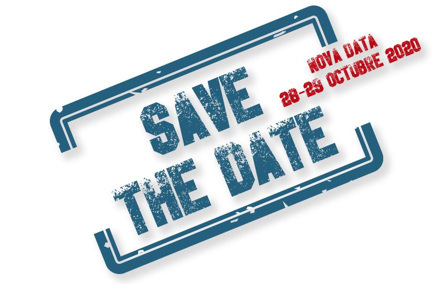 Segell save de date per la reserva de data per a visitar l'estand de Netsteril a Farmaforum 2020