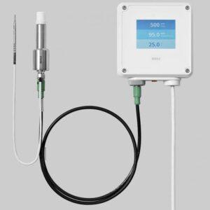 Primer plano del sensor de medición para biodescontaminación H2O2 vaporizado Vaisala PEROXCAP HPP272