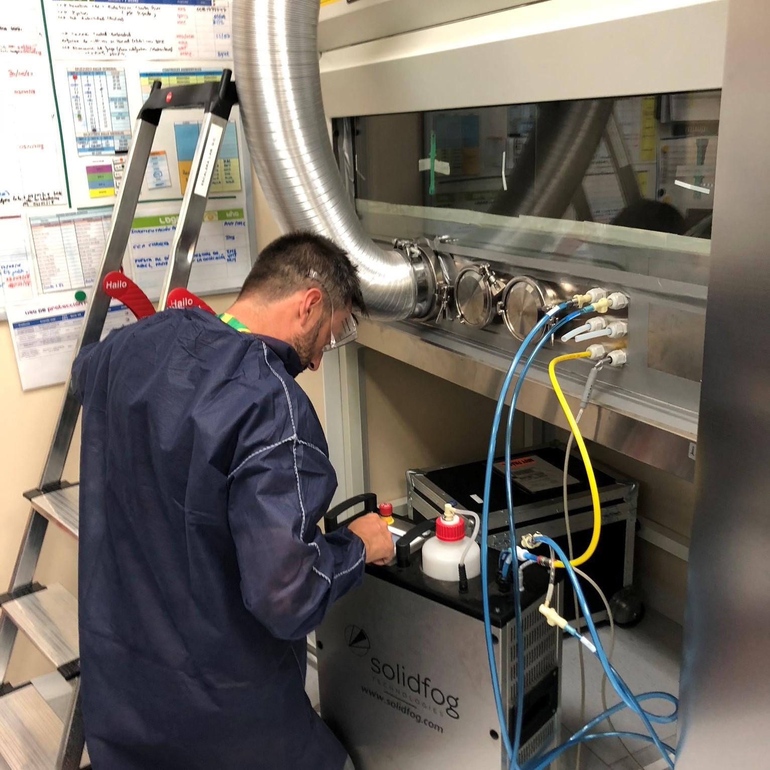 Descontaminació de cabines de seguretat biològica
