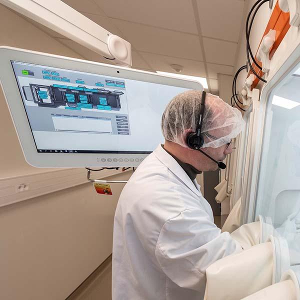 Detalle del sistema de control y registro con voz para terapias avanzadas de salamanderU
